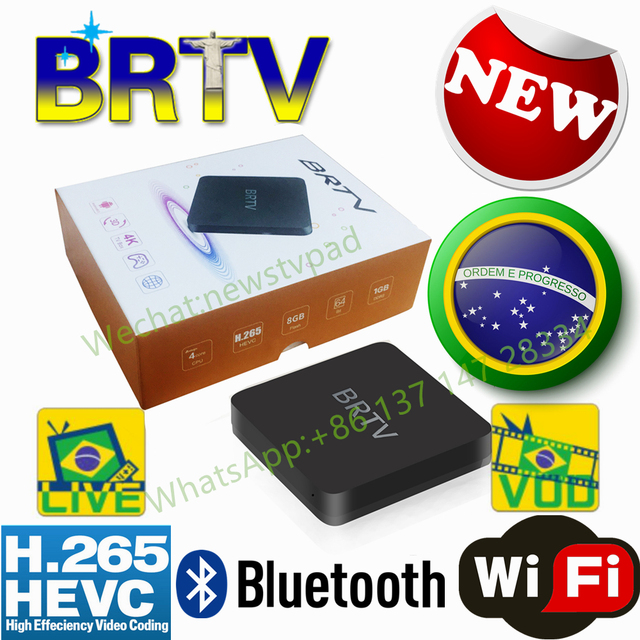 US $175 0 |BRTV Tigre tv box BTV HTV BOX 5 iptv HTV6 BOX H TV 6 Brazilian  Portuguese TV Internet Streaming box Live HD Filmes On Demand TV-in Set-top
