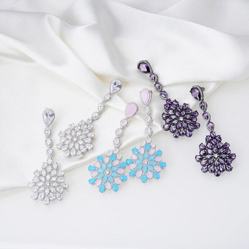 Projektant mody miedzi biżuteria 3A cyrkonia Party kolczyk w Kolczyki z zapięciem typu sztyft od Biżuteria i akcesoria na  Grupa 1