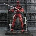 DST ARTFX + X MEN X-MEN Deadpool Figura Arma X Wade Wilson GUERRA CIVIL Iron Man Wolverine Acción PVC Figura Modelo de Juguete de Regalo
