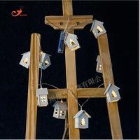10 lampada In Legno casa di nozze decorazione natalizia albero Di Natale ghirlanda LED illuminazione interna 2x AA battery power 165 cm