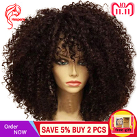 Hesperis Lace Front Human Hair Wigs For Black Women 130 denstity 13X6 Brazilian Remy Afro Kinky Curly Human Hair Wigs Preplucked