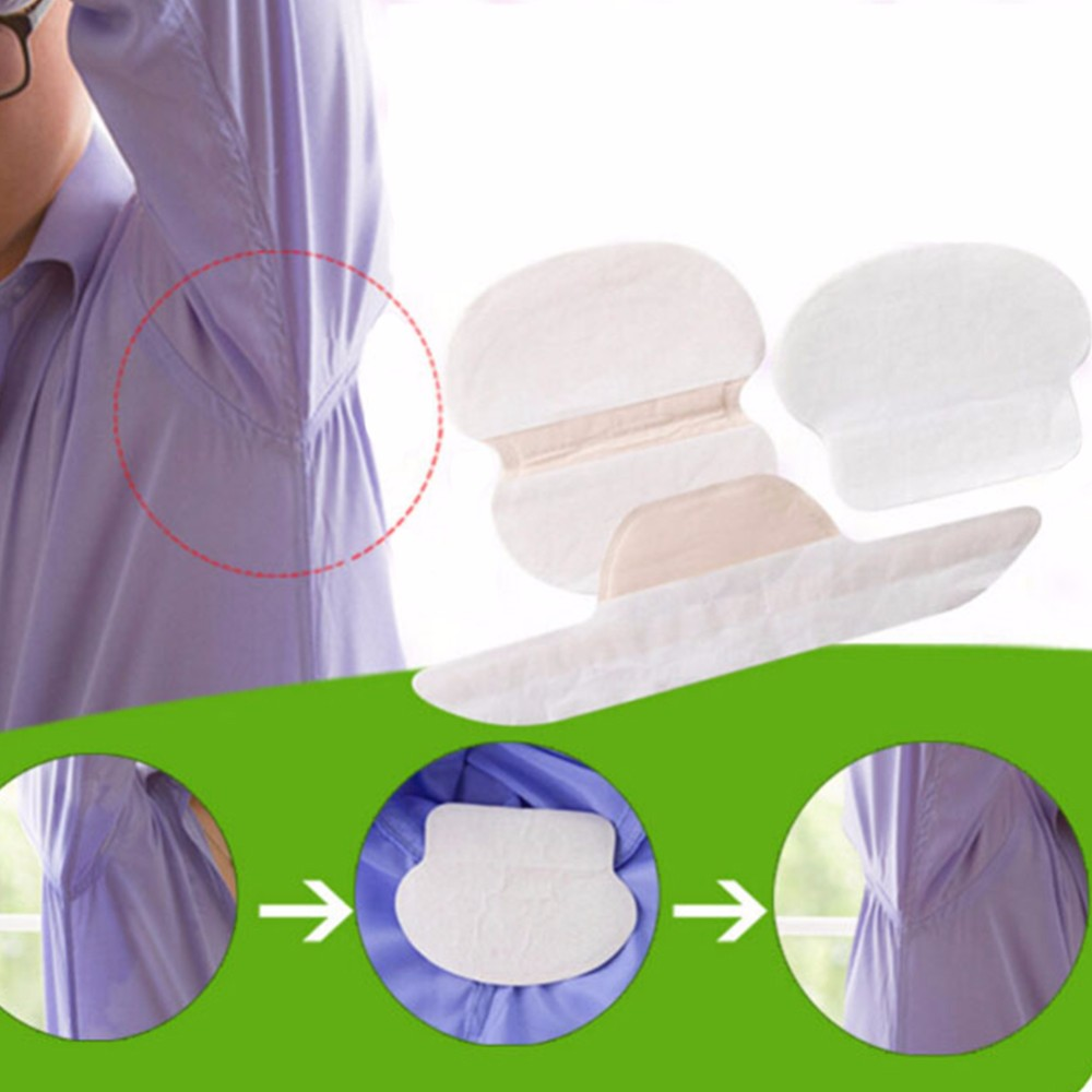 Купить с кэшбэком 200pcs (100bags)Pairs Sweat Pads Dress Sweat Perspiration Pads Shield Disposable Underarm Armpits Deodorant For Women/Men Armpit