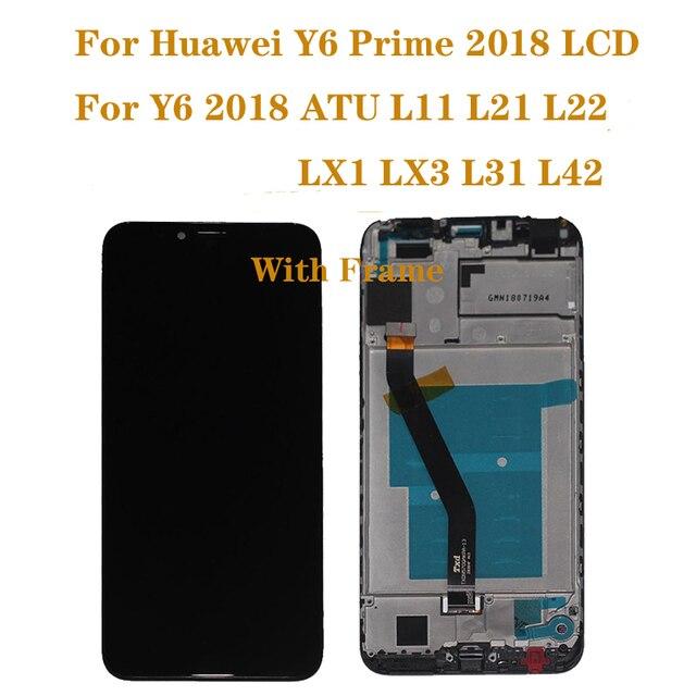 Dành cho Huawei Y6 2018 Màn hình LCD hiển thị Bộ Số Hóa Cảm Ứng cho Y6 Prime 2018 Màn hình LCD ATU L11 L21 L22 LX3 Sửa Chữa bộ