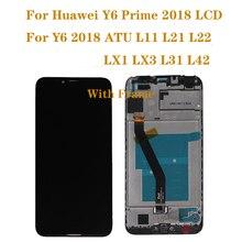 لهواوي Y6 2018 LCD عرض تعمل باللمس محول الأرقام الجمعية ل y6 prime 2018 lcd ATU L11 L21 L22 LX3 طقم إصلاح