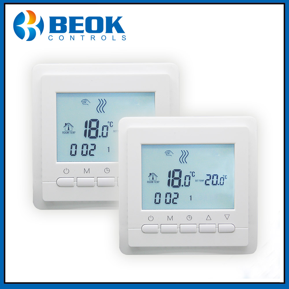 2pcs TOL43 EP Underfloor Heating Thermostat Weekly Programmable LCD Screen Room Temperature Controller Thermoregulator