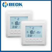 2 pièces TOL43-EP chauffage par le sol Thermostat hebdomadaire Programmable LCD écran température ambiante régulateur thermorégulateur