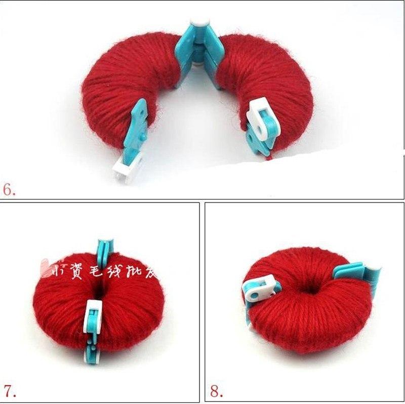 2017NEW LOT 4PCS Set 4 Sizes POM-POM Maker Fluff Ball Weave Needlecraft Knitting DIY Needle Craft Wool Tool FOR ADDI CLOVER PRYM