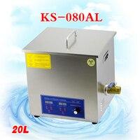 1 pc 110 v/220 v KS 080AL 20l máquina de limpeza ultrassônica da placa de circuito parte o líquido de limpeza do laboratório/produtos eletrônicos etc|ultrasonic cleaning machine|ultrasonic cleaningcleaning machine -