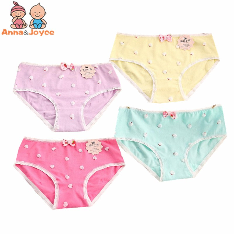 10pc/lot Cotton Young Girl Briefs Candy Colors Girls Panties Kids Underwear Pants Underpants For 9-20 Years