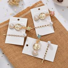 Gold Color Bohemian Starfish Hair Clip Pin Fashion 2Pcs/Sets Accessories Women Jewelry