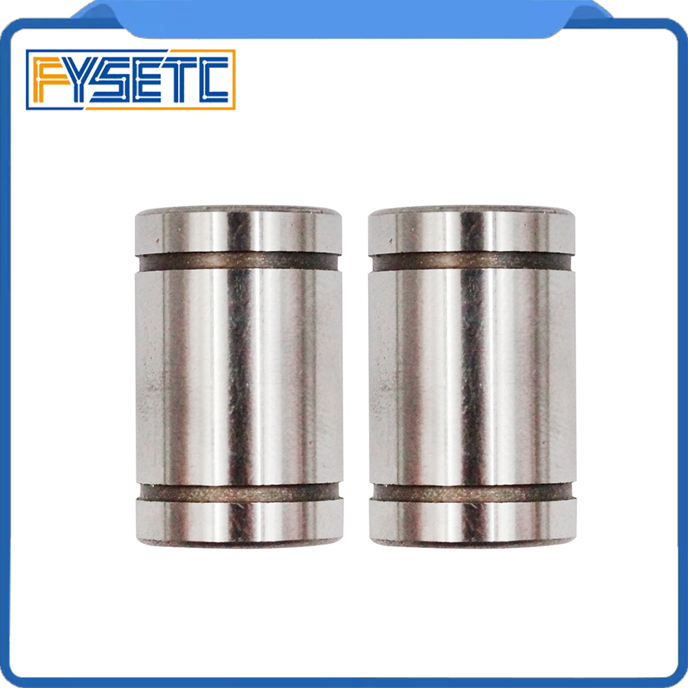 10pcs/lot LM8UU Ball Bearings 8mm Bushing For CNC 3D Printers Parts Rail Linear Long Rod Shaft Part 8mm*15mm*24mm Aluminum Bush