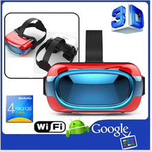 New high quality all in one VR glasses 3D glasses 360 degree virtual reality support 3D movie/games/video VR box RK3126 Quad Cor