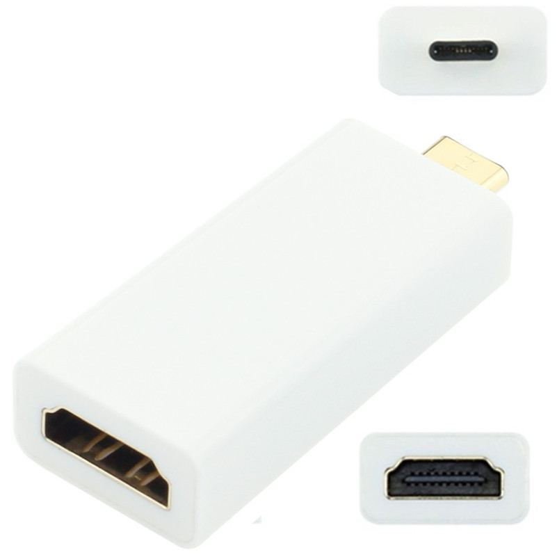 где купить High quality USB3.1 Type-C Male to HDMI Female 1080P HDTV  Adapter converter For Macbook Laptop Free Shipping tracking number по лучшей цене