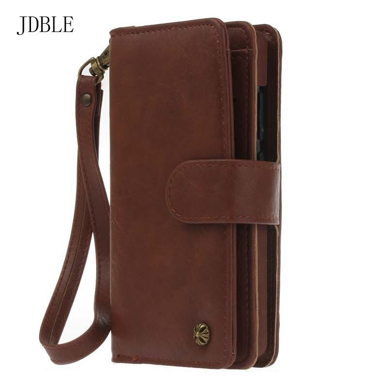 Цена за Jdble многофункциональный бумажник кожаный чехол на молнии кошелек чехол телефон случаях телефон Кошелек Леди Сумочка для Huawei P9 lite случае JS0234