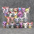 24 Unids/lote Anime Lindo Animales Q Pet Shop Figura de Acción Colección Maquetas Juguetes Kids Toys Chica Muñecas Regalos