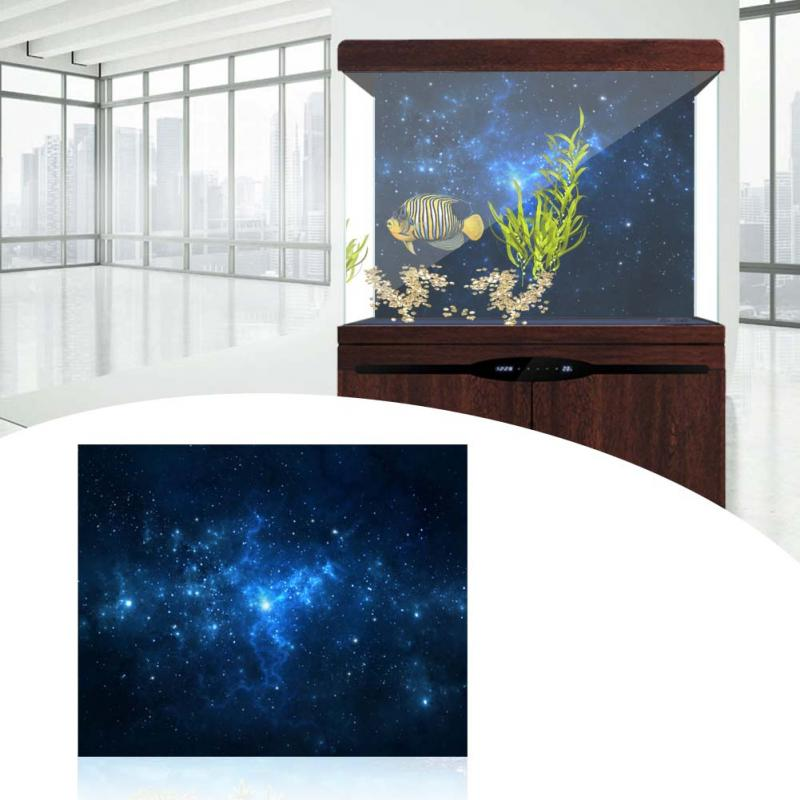 Aquarium Background Poster Wood Double Sided Fish Tank Decorative Ocean Landscape Picture Wall Decor Glossy 30cm 41cm 46cm 50cm Elegant And Sturdy Package Home