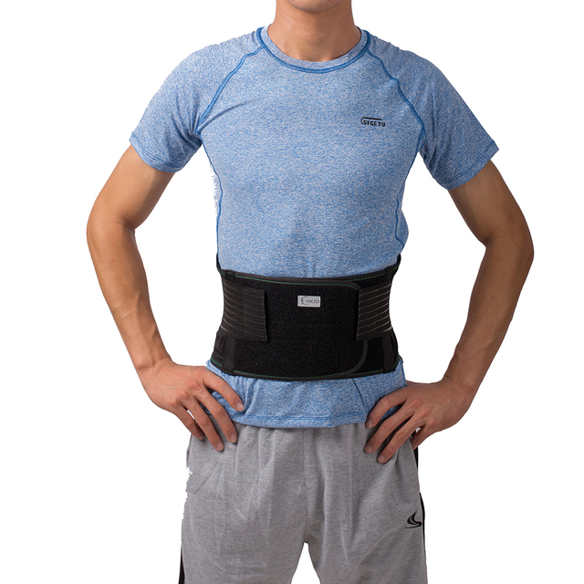 Lower Back Lumbar Spinal Spine Waist Brace Support Belt Corset Stabilizer Cincher Tummy Trimmer Trainer Weight Loss Slimming 2