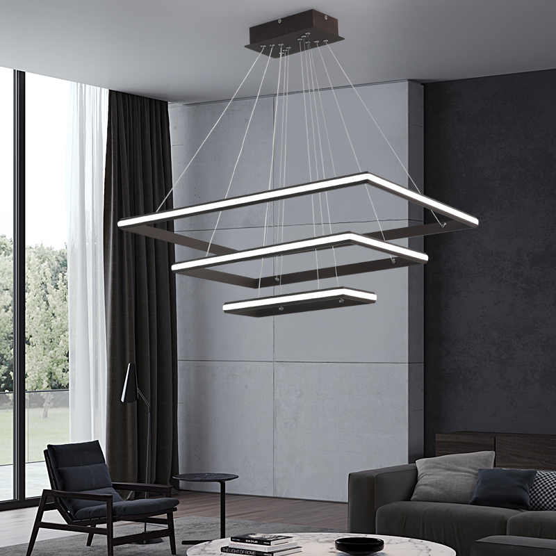 Brown/White Minimalism Nordic style LED Pendant Lights for Dining Kitchen Living Room Hanging Suspension Pendant Lamp Fixtures
