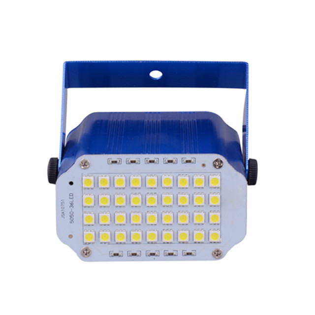 Flash 36 Leds DJ Disco Strobe Light Sound Voice Music Control Strobescope  Flashlight Led Stage Light
