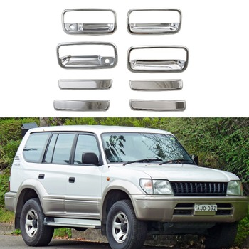 For Toyota Land Cruiser Prado FJ90 1996-2002 8Pcs car door handle bowl cover ABS Chrome Accessories Stickers Car Styling image