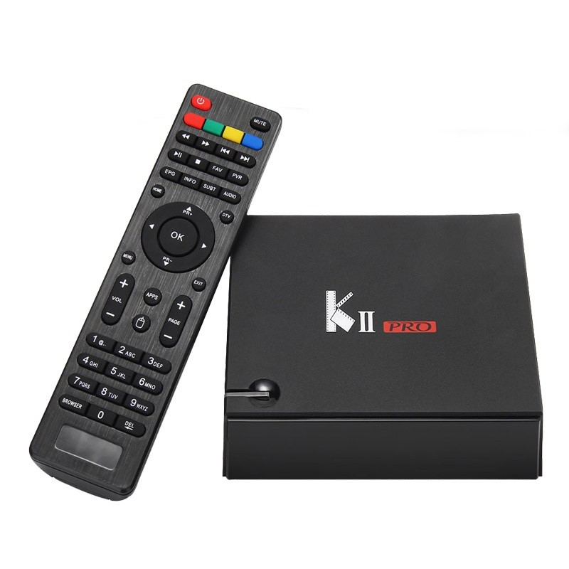 Genuine KII Pro Android DVB-S2 DVB-T2 TV Box 2GB 16GB Amlogic S905 Quad Core 2.4G 5G Wifi Bluetooth Smart Media Player mxiii pro android amlogic s812 quad core 2g 8g 5g wifi tv box