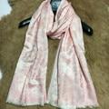 Elegant Flowers Jacquard Silk Wool Blend Scarf Wraps for Women Winter Warm Scarves Shawl Shawl Clothing Accessory