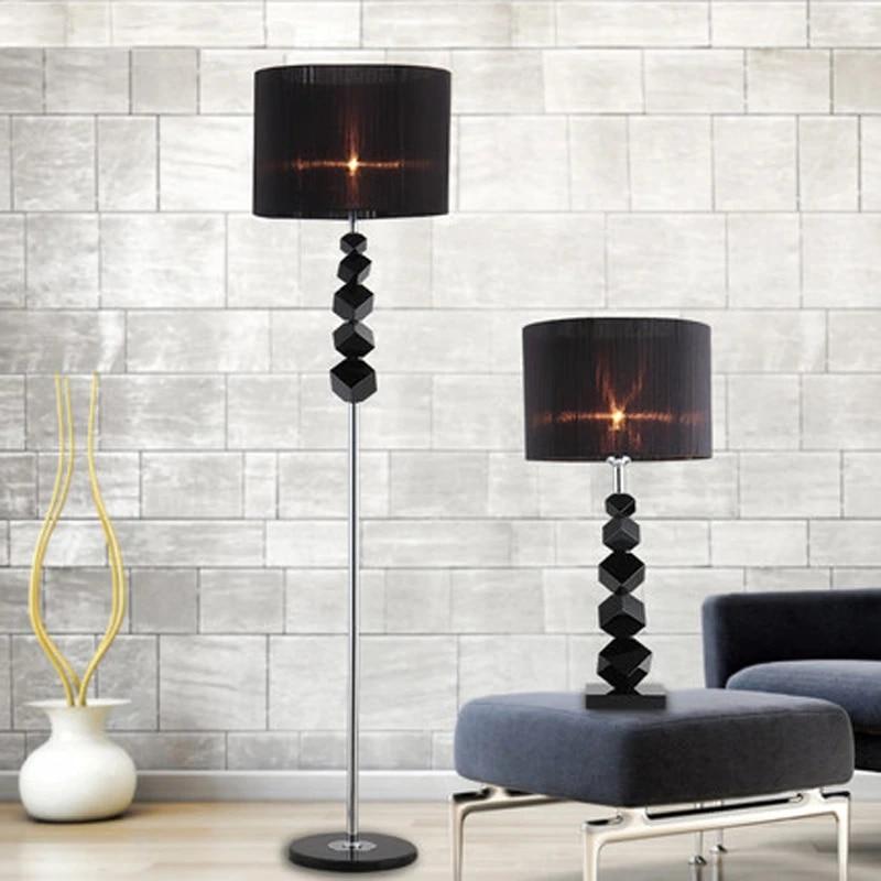 European Luxury Floor Lamps Creative Modern Black Crystal Table Lamp Bedroom Living Room Lamp Shade Table Lamps Fg549 Aliexpress