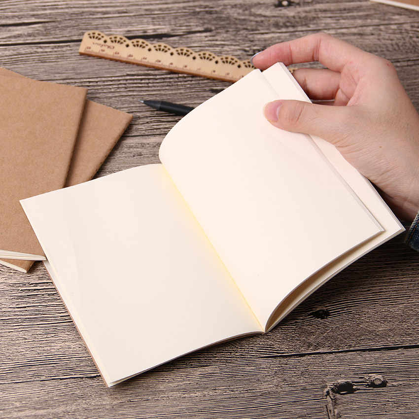 1PC Cowhide Paper Vintage Cover Travel Journal Notebook Blank Notepad Office School Stationery Supplies
