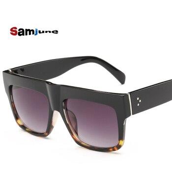 2af404cf71 Alta calidad Kim Kardashian gafas de sol mujer de lujo marca diseñador  Shades Flat Top gafas lunette DE SOLEIL feminino