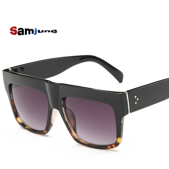 3f6f46774d High Quality Kim Kardashian Sunglasses Women Luxury Brand Designer Shades  Flat Top Gafas Lunette De Soleil