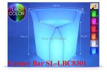 Luminous Remote control LED Bar Counter,PolyDeco Bar, Break Corner Table,rechargeable Rundbar Bartresen light  furniture