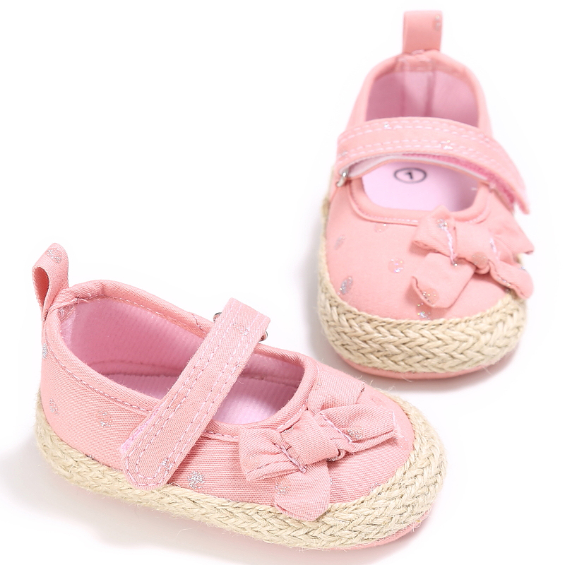 Round Toe Flats Baby Girl First walker Toddler New Born Canvas Infants Babe Ballet Dress Princess Shoes Soft Soled