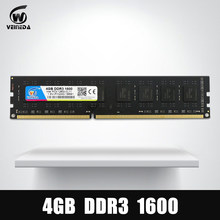 VEINEDA Dimm Ram DDR3 4 gb 1600Mhz Compatible 1333 1066 ddr 3 4gb PC3-12800 Memoria 240pin for All AMD Intel Desktop(China)