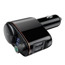 Авто USPS Baseus FM запускает двойной USB выход автомобиль заполненный 3.4A Автомобильный MP3-плеер автомобильные аксессуары Новинка