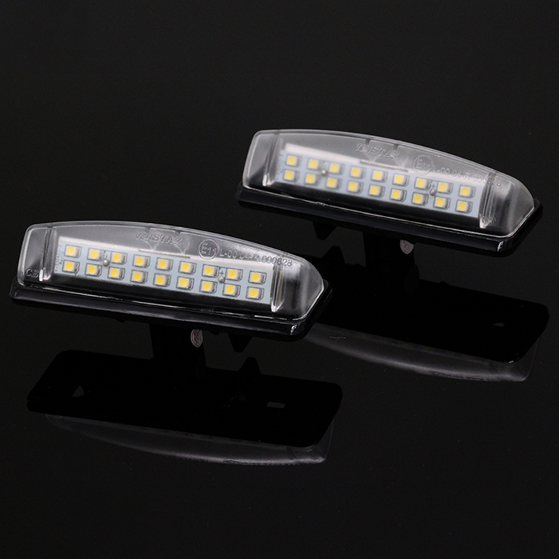 2x XENON BRIGHT WHITE LED NUMBER PLATE LICENCE UPGRADE LIGHT LAMP BULBS