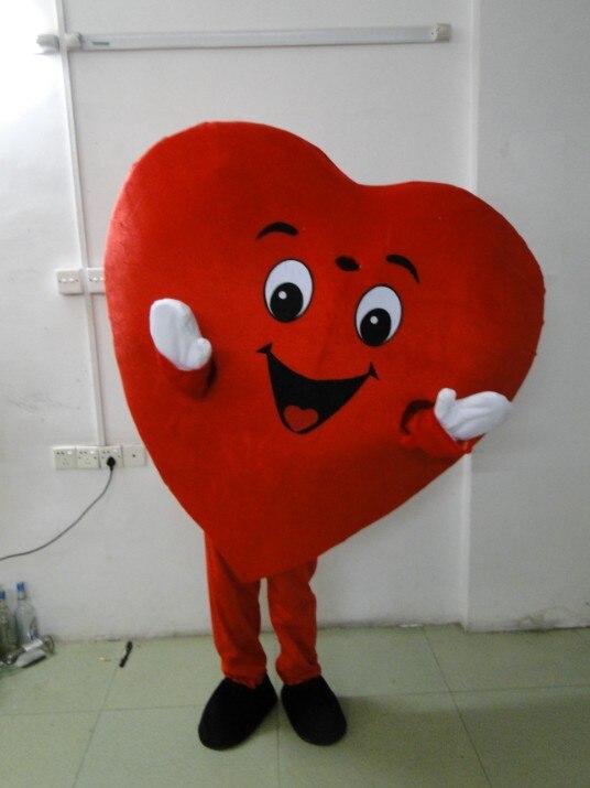 high quality Adult size Heart mascot costume love Heart mascot free shipping