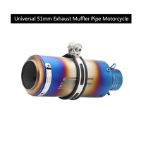 Blue Color 51 mm Exhaust Muffler Pipe Universal 38 51 mm Silencer for Motorcycle Dirt Bike Removable DB Killer Scooter Escape