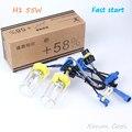 1 Pair 4800lm H1 Fast Start Uv High Brightness Xenon Lamp Bulb Ac 55w H3 H7 H11 9005 9006 Single Beam 4300k8000k6000k White