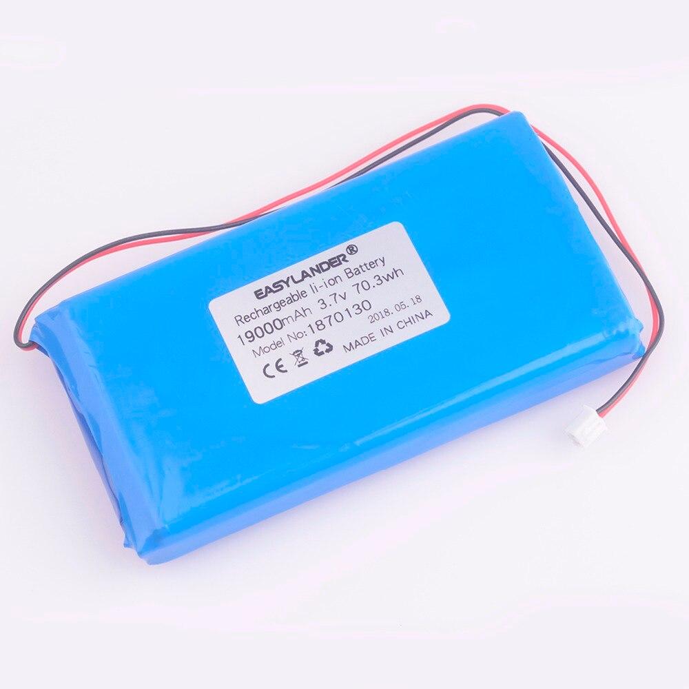 1870130 3.7 V 19000 mAh Rechargeable li polymère Li-ion batterie pour GPS DVR MP5 Bluetooth produit numérique petits jouets outils