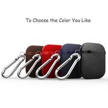 Litchi Skin Bag Case Voor Apple AirPods Bluetooth Draadloze Oortelefoon Zachte Man Case Voor Air Pods Cover Headset Opladen Doos covers