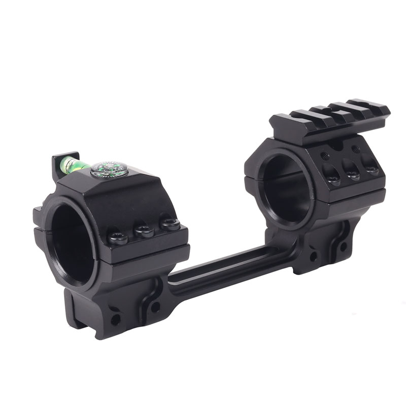 "US 1/""//30mm Dual Rings Flat Top Scope Mount /&Bubble Level 20mm//11mm Picatiny Rail"