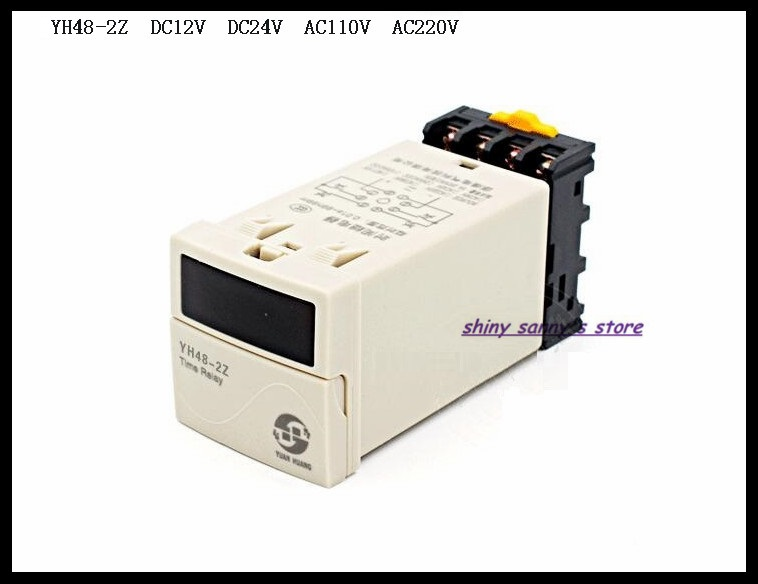 Upgrades YH48-2Z DH48S-2Z DC12V, DC24V, AC110V, AC220V Multifunction Digital Timer Relay On Delay 8 Pins DPDT Brand New 24vdc new programmable dh48s 2z time delay relay counter