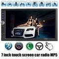 2015 NEW 7 ''polegadas LCD Touch screen jogador rádio do carro DO BLUETOOTH mãos livre 1080 P filme câmera de visão traseira 2 din áudio estéreo do carro mp5