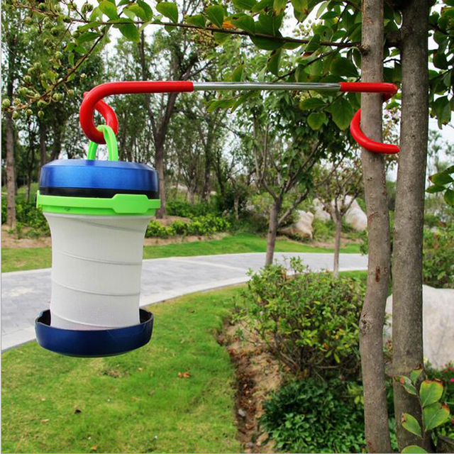 Outdoor Camping Equipment 2 Way Lantern Hook Light Lamp Hanger Tent Pole Post For