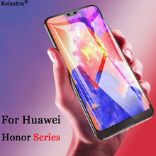 Case For Huawei Honor 10 Tempered Glass Screen Protector For Honor 9 Lite 9i 8 6C Pro 7X 7A 7C 6A 6X V10 P Smart Glass Film Glas(China)