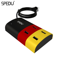 SPEDU USB Charger EU 4 Ports Smart Quick Charge Mobile Phone Chargers For Samsung Galaxy S8