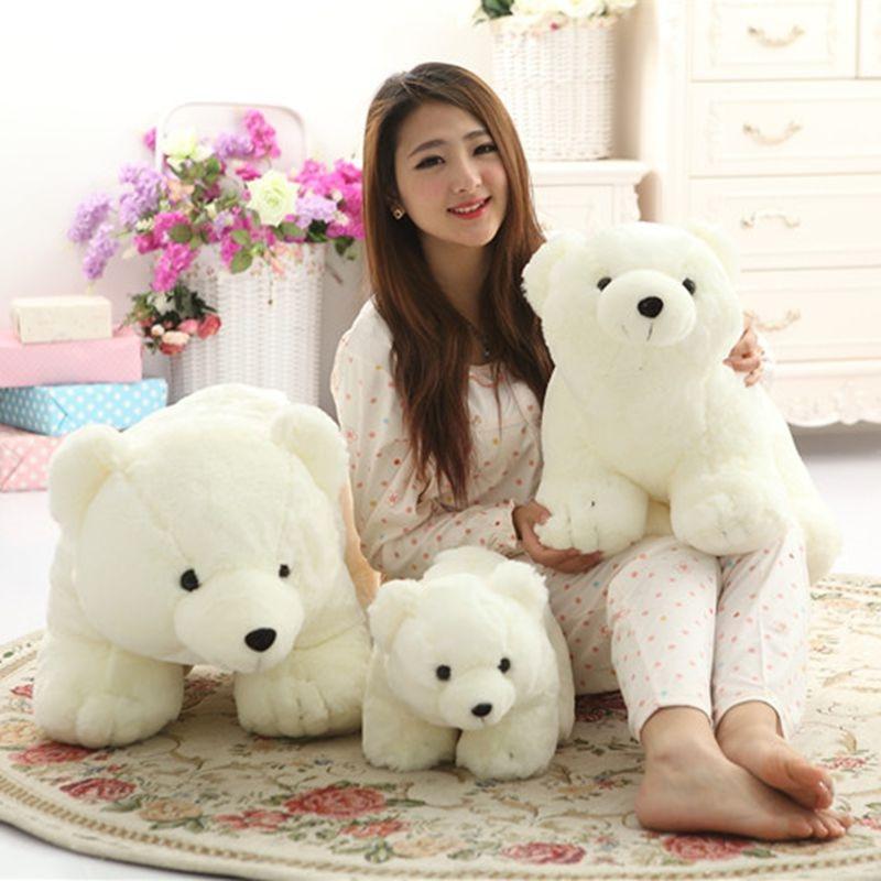 1pc 40cm Kawaii Plush Polar Bear Stuffed Baby Kids Toys