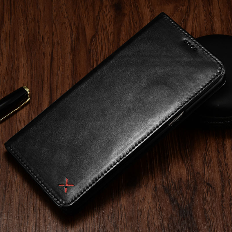 Original XOOMZ Genuine Leather Wallet Case For iPhone XS XS MAX Luxury Vintage Magnetic Flip Cover Phone Cases For iPhone X Case