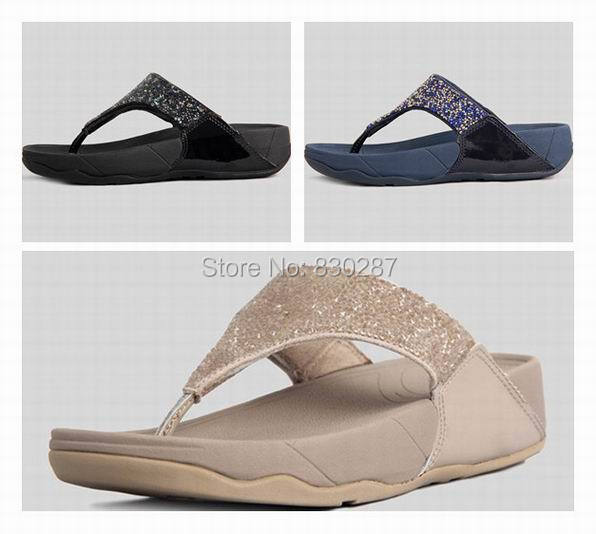 wholesale fashion rock chic sandals brand womens flip flops wedges diamond  slides ladies summer slippers cheap Black 958c6095c