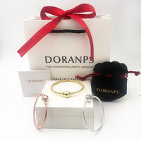 2019 NEW Luxury Brand Not Fade silver 925 bracelet charms bangle women jewelry birthday gifts,1pz